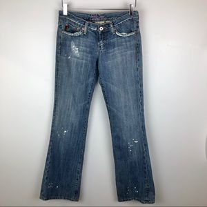 Miss Me Wisteria Distressed Bootcut Jeans